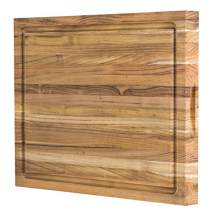 Teak Wood Cutting Board: 18x14x1.25 with Juice Groove (Discontinued)