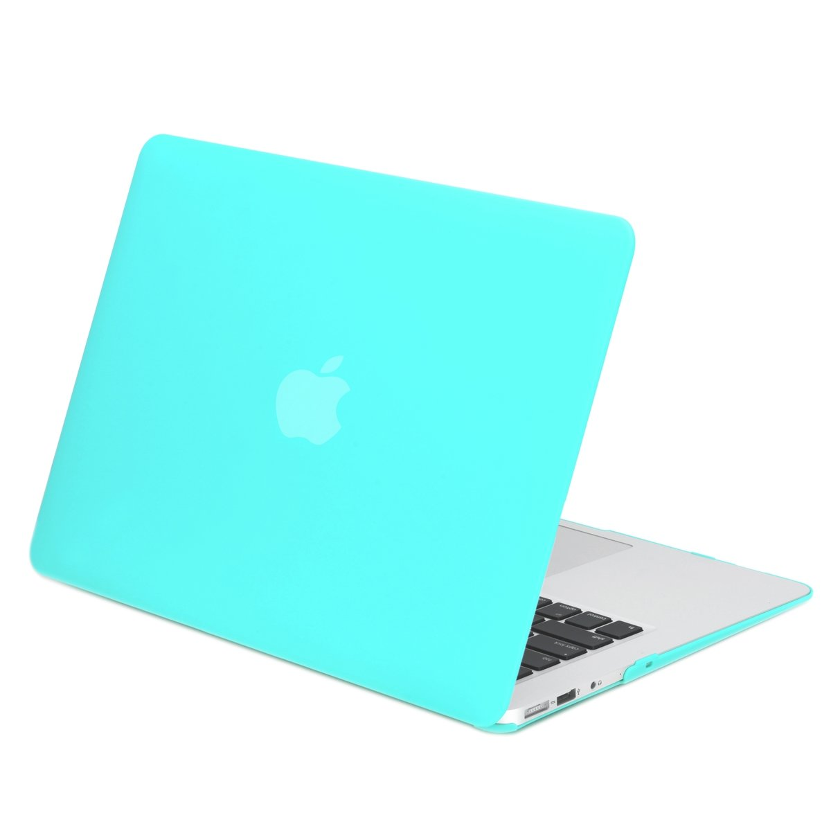"""TOP CASE - Classic Series Rubberized Hard Case Compatible Older Generation MacBook Air 13"""" (A1369 and A1466) (Release 2010-2017) - Hot Blue"""
