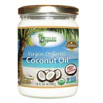 Organic Unrefined Virgin Coconut Oil - Cold Pressed Coconut Oil For Skin, Face, Hair Care, Cooking, Baking, Smoothies - USDA Organic, Non-GMO Coco Oil by Tropical Green Organics - 16 oz