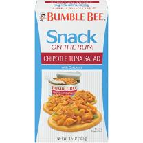 BUMBLE BEE Snack On The Run! Chipotle Tuna Salad with Crackers Kit, 3.5 Ounce Kit (Case of 12), High Protein Snack Food, Canned Tuna, Healthy Snacks for Adults