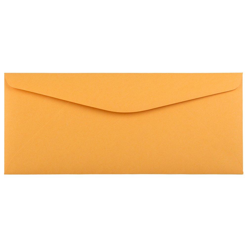 JAM PAPER #11 Recycled Envelopes - 4 1/2 x 10 3/8 - Brown Kraft Manila - 100/Pack
