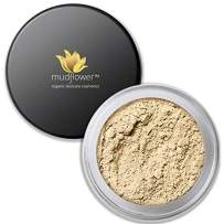 Mudflower Cosmetics Organic Powder Makeup Foundation, Ivory, 1.0 ounce