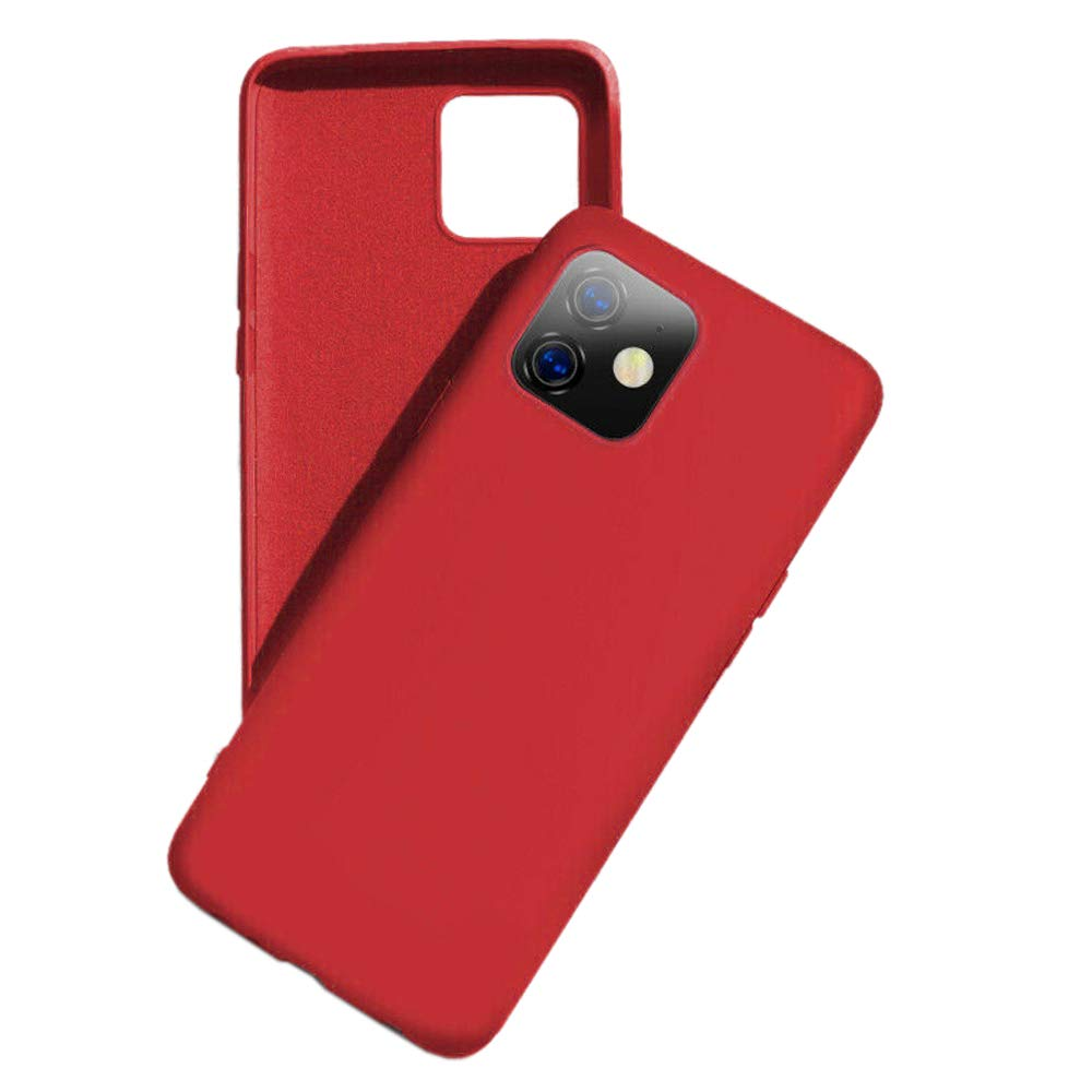 Toppix Case for iPhone 11 (6.1 Inch), Slim Soft TPU Silikon Cover [Anti Slip] [Scratch Resistant] Flexible Case with Soft Microfiber Lining, Red
