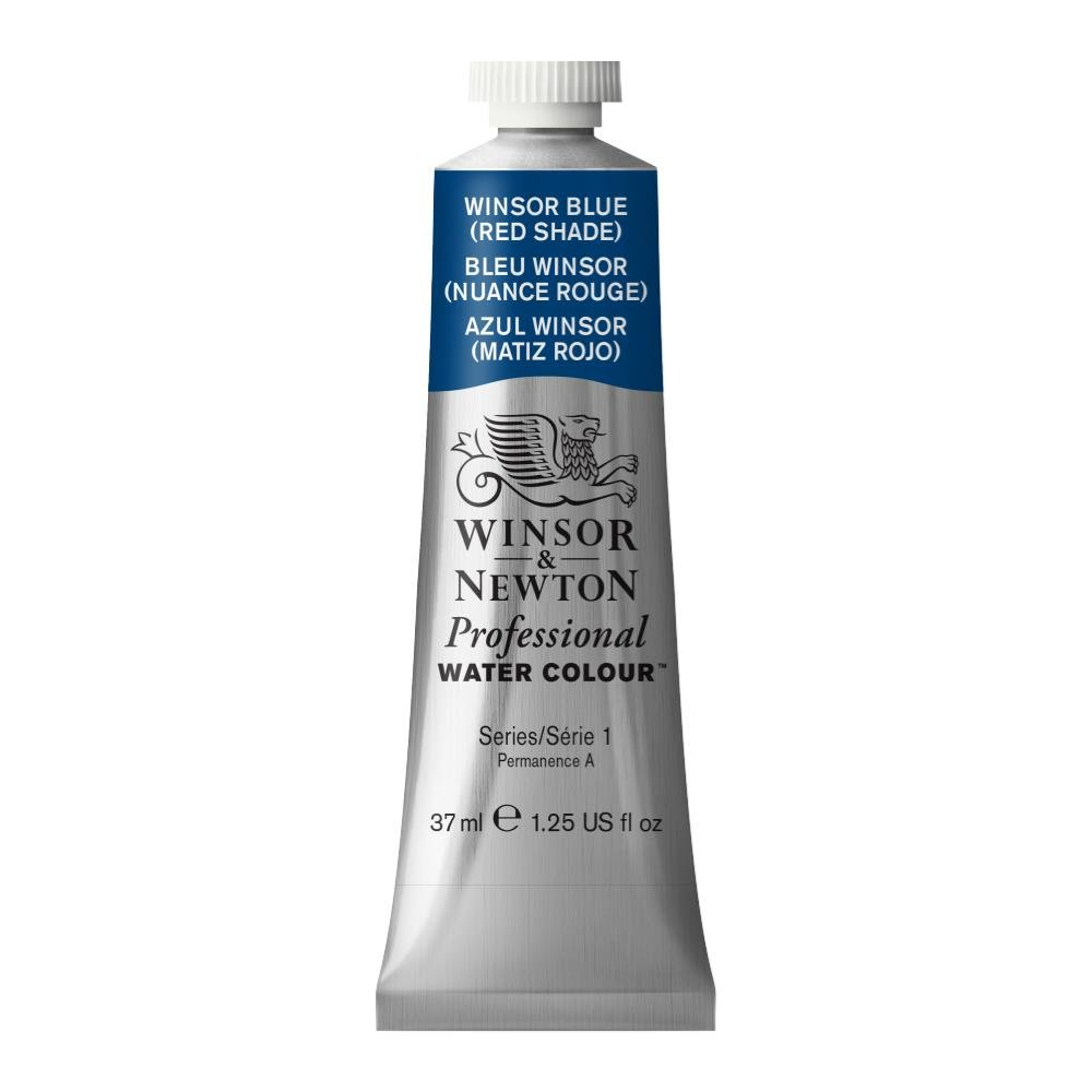 Winsor & Newton Professional Water Colour Paint, 37ml tube, Winsor Blue (Red Shade)