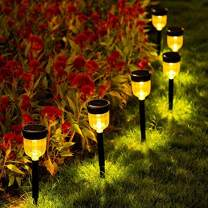 Solar Pathway Lights,6 Pack SMY Solar Outdoor Lights,Garden Lights Outdoor Landscape Lighting for Lawn,Yard,Patio, Pathway,Walkway,Warm White