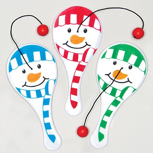 Baker Ross Mini Snowman Biff Bats Value Pack — Christmas Novelty Toys for Kids, Perfect Party, Loot or Prize Bag Filler (Pack of 6)