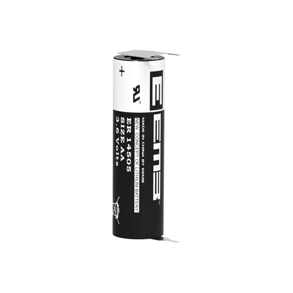 EEMB 3.6V AA Lithium Battery WithVBR Tabs ER14505 2600mAh High Capacity Li-SOCl2 Non Rechargeable UL Certified 3.6Volt Lithium Thionyl Chloride Batteries (1)