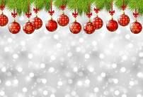 Baocicco Vinyl 7x5ft Merry Christmas Backdrop Happy New Year Photography Background Christmas Ball Christmas Tree Shiny Halos Bokeh Backdrop Children Baby Adult Portraits Photo Studio