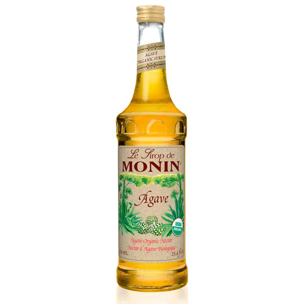 Monin - Organic Agave Syrup, Sweet and Full Flavor, Great for Any Beverage, Gluten-Free, Vegan, Non-GMO (750 Milliliters)