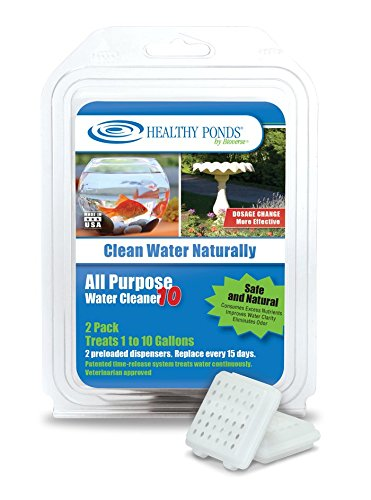 Healthy Ponds 52200 All Purpose Water Cleaner 10 - Preloaded Dispenser 2 Pack; Each Dispenser Treats up to 10 Gallons for 15 Days
