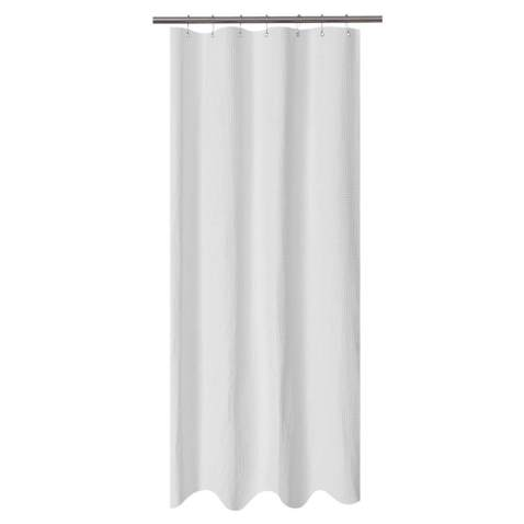 Barossa Design Waffle Weave Shower Curtain Hotel Luxury Spa 230 GSM Heavy Duty