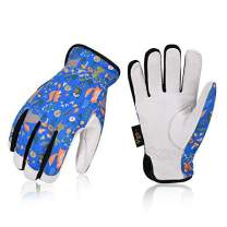 Vgo Age 4-5 Kids 32 ℉ or above 3M Thinsulate C40 Lined Winter Warm Working Gloves,Anti-Abrasion, High Dexterity Kid Glove(1Pair,Size S,Blue,GA9636FW-KID)