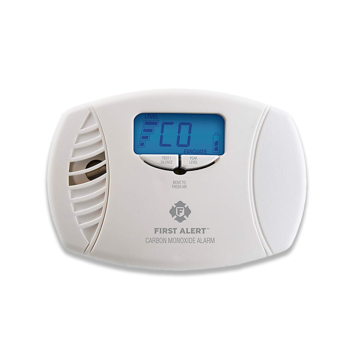 First Alert Dual-Power Carbon Monoxide Detector Alarm   Plug-In with Battery Backup and Digital Display, CO615