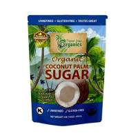 Organic Coconut Palm Sugar - 100% NON- GMO Naturally Sweet, Pure, Unrefined & Gluten Free Family Owned - 1lb (16OZ)