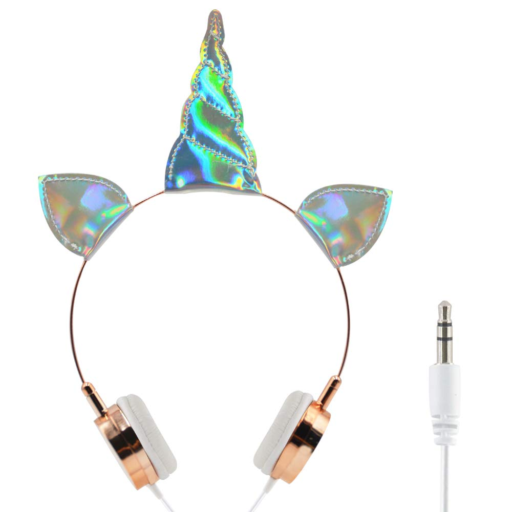 Kids Headphones Wired Headphone for Kids,Adjustable Stereo Tangle-Free,3.5MM Jack Wire Cord On-Ear Headphone for Children/Teens/Girls/School/Kindle/Airplane/Plan