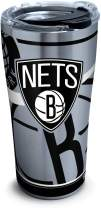 Tervis NBA Brooklyn Nets Paint Stainless Steel Insulated Tumbler with Clear and Black Hammer Lid, 20oz, Silver