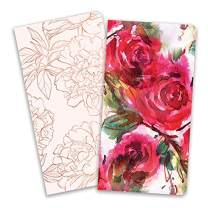 Paper House Productions JBB0008 Red Roses JourneyBook Insert Set for Standard Size Traveler's Notebook Dot Grid