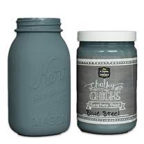 Chalk Finish Paint - Furniture & Cabinet Paint (32 oz, Blue Steel)