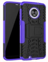 "Moto G6 Case,Yiakeng Dual Layer Wallet Accessories Bumper Hard Protective Flip Waterproof Phone Cases Cover with A Kickstand for Motorola Moto G (6th Generation) 5.7"" (Purple)"