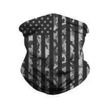 Heymiss Mens American Flag Face Bandanas Womens Headband Shield Scarf Neck Gaiters for Dust Outdoors Daily Protection