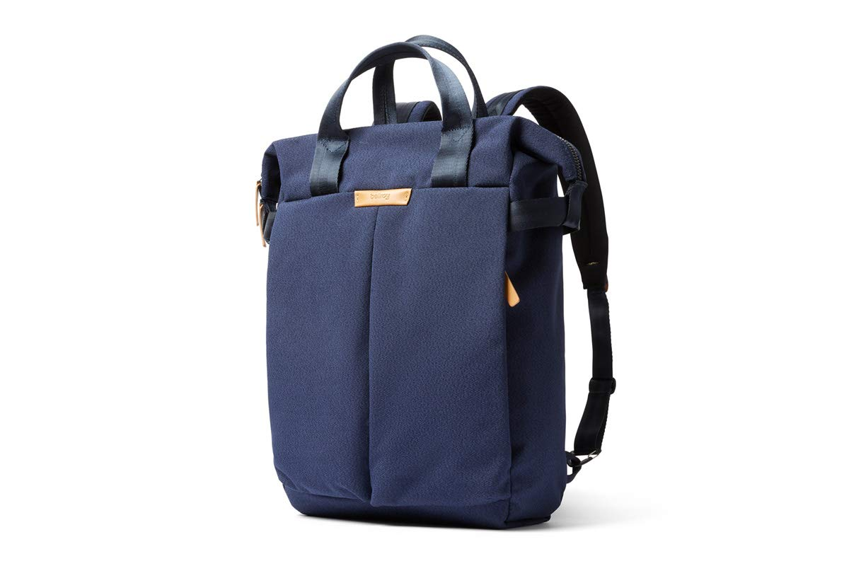 """Bellroy Tokyo Totepack, Water-Resistant Woven Convertible Backpack and Tote Bag (15"""" Laptop, Tablet, Notes, Cables, Drink Bottle, Spare Clothes, Everyday Essentials) - Ink Blue"""