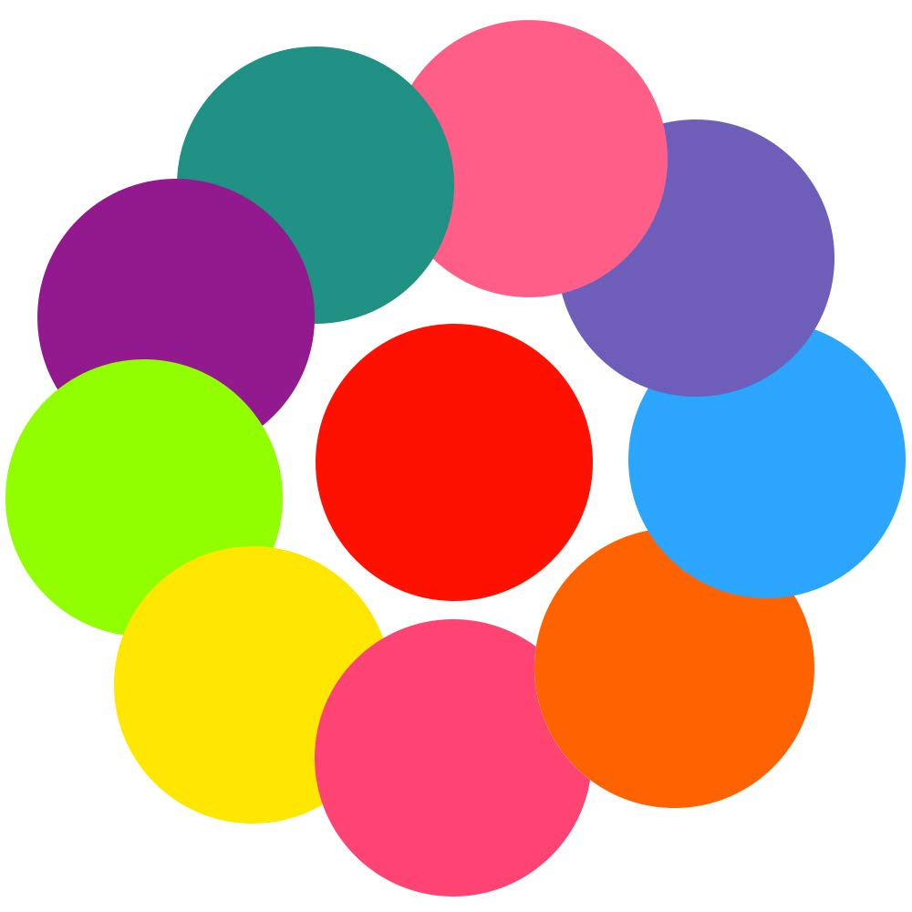 VSTM Dry Erase Circles, Colorful 10 Pieces White Board Marker Removable Vinyl Dots Spots Wall Stickers Decals Set for Drills and Training School Teaching Progress Classroom, Home and Office (11 inch)