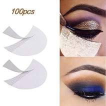 LKE 100pcs Eyeshadow Stencils Professional Pads Under Eye Eyeshadow Gel Pad Patches for Eyelash Extensions/Lip Makeup