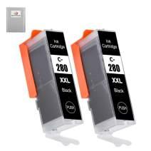 NEXTPAGE Compatible Ink Cartridges Replacement for Canon PGI-280 PGI-280XXL CLI-281 CLI-281XXL - for Pixma TR8520 TS9120 TS8120 TS6120 TR7520 TS6220 TS8220 TS9520 TS9521C (2 Pack)