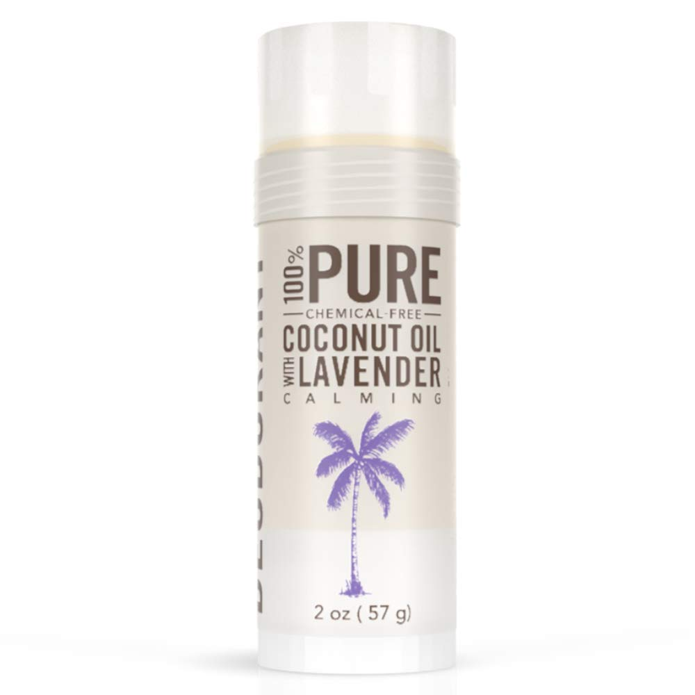 SKINNY and CO. | 100% Pure Coconut Oil with Lavender Deodorant | Natural Organic Deodorant | Aluminum Free, Paraben Free, Non Toxic, Vegan, Gluten and Cruelty Free | For Men and Women |
