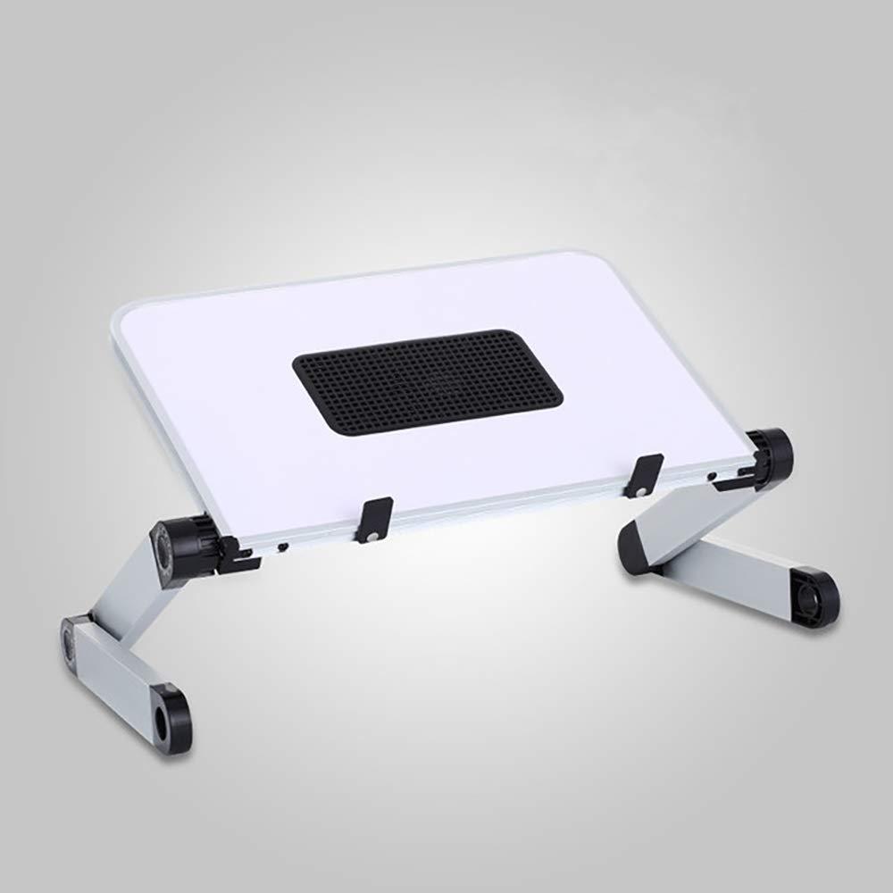 Laptop Stand with Fan, Adjustable Aluminum Notebook Tablet Desktop Holder, Ergonomic Laptop Riser Elevator for Desk, Foldable Stand for iPad MacBook Pro Air Lenovo HP XPS (White with Fan, Large)
