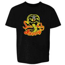 Cobra Kai Karate Kid Merchandise Retro No Mercy Toddler Kids Girl Boy T-Shirt