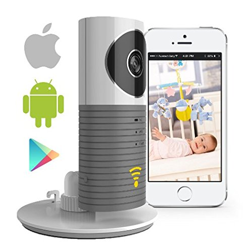 Video Baby Monitor Camera Compatible with iPhone and Android. WiFi Enabled Nanny Cam, 2 Way Talkback with Motion Activated Cell Alerts. Ash Grey