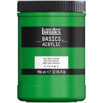 Liquitex BASICS Acrylic Paint, 32-oz jar, Light Green Permanent