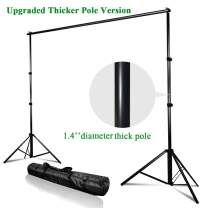 Kshioe Upgraded Background Stand,8.5ft-10ft Adjustable Heavy Duty Backdrop Support System Kit with Carry Bag for Photography Photo Video Studio, Photography Studio