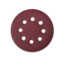"POWERTEC 45100 A/O Hook & Loop 8 Hole Disc, 6"", Assortment Grits 40, 80, 120, 220, 320, Red, 100 Pack"