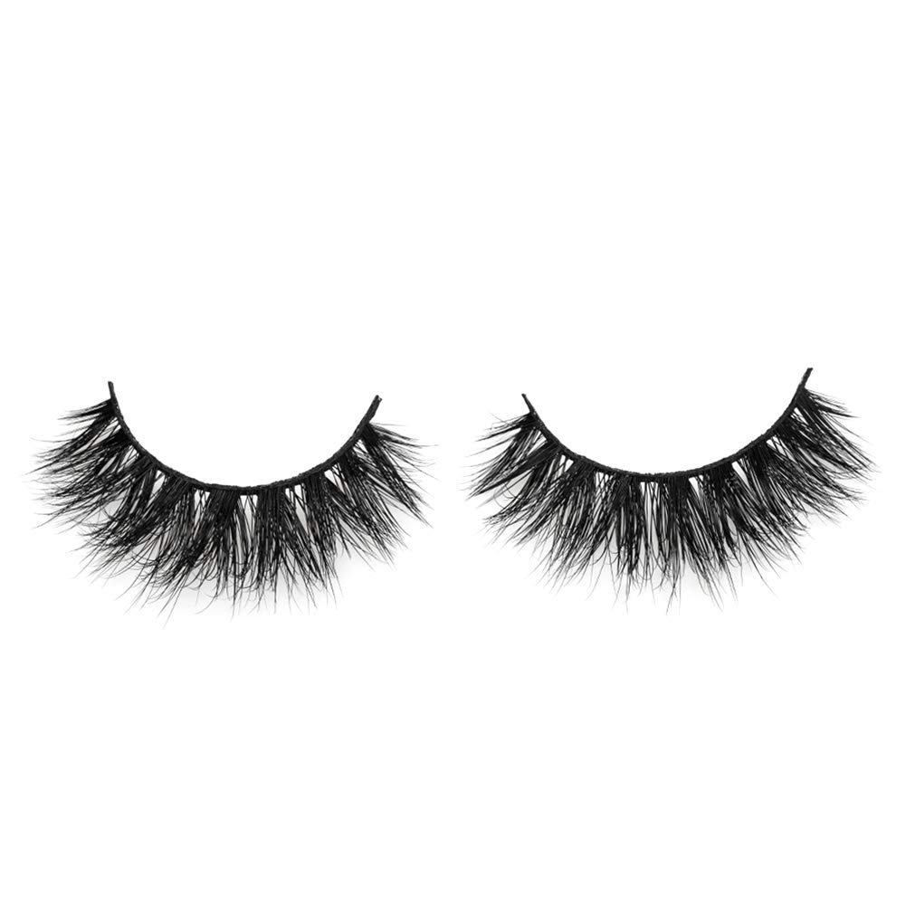 Arison 3D Mink Lashes False Fake Eyelashes Wispy Strips Silk Reusable Handmade Real Long Fur Soft Dramatic Natural Look 1 Pair Package for Women Makeup (D008)