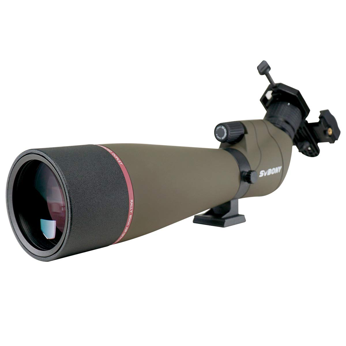 SVBONY SV13 Spotting Scope Telescope for Hunting 20-60X80mm Zoom Range IPX7 Waterproof with Phone Adapter Bird Watching