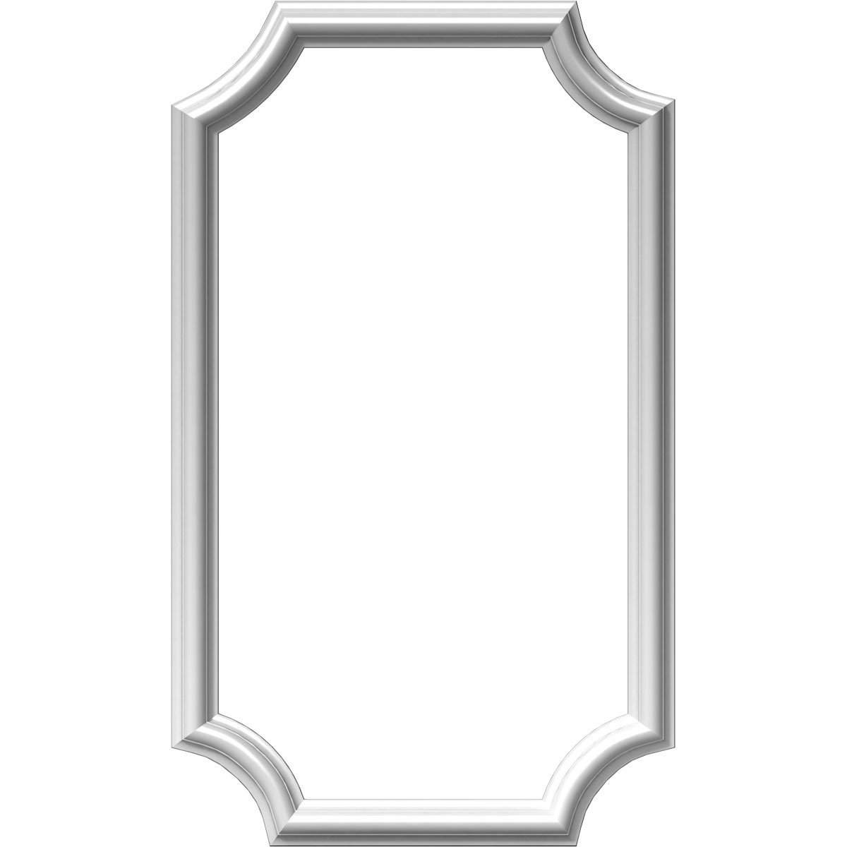 """Ekena Millwork PNL16X28AS-02-CASE-2 16""""W x 28""""H x 1/2""""P Ashford Molded Scalloped Wainscot Wall Panel (2-Pack), x x, Factory Primed White, 2 Piece"""