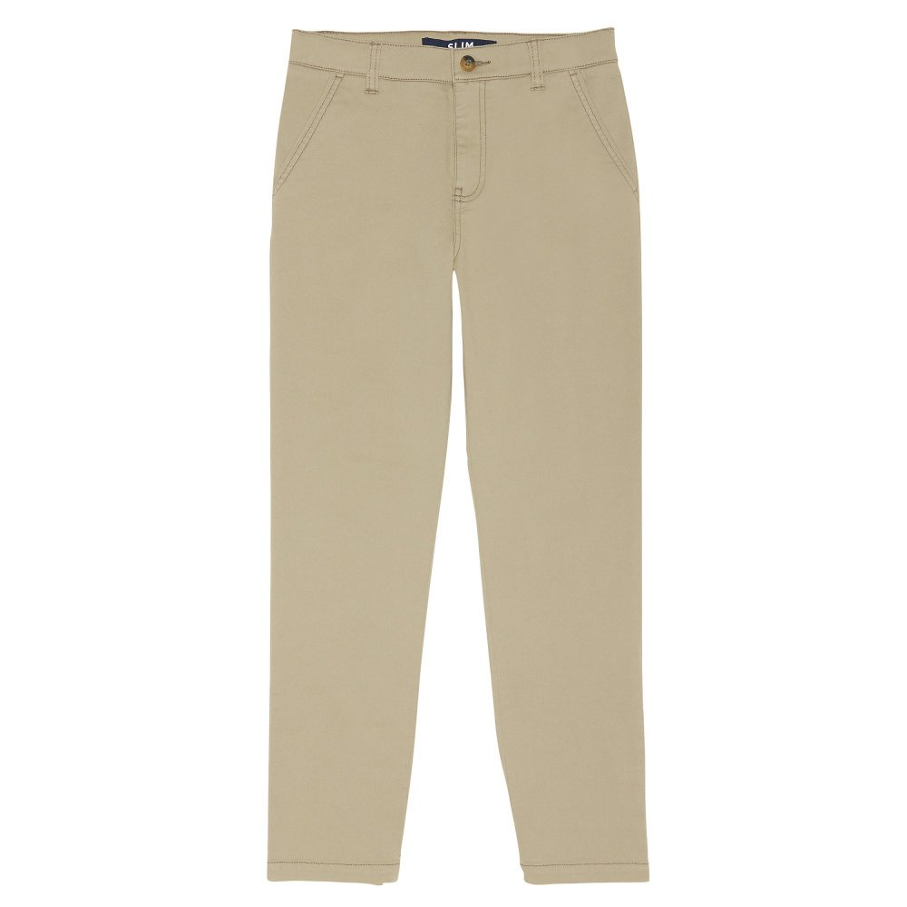 French Toast Boys' Slim Fit Stretch Chino Pant