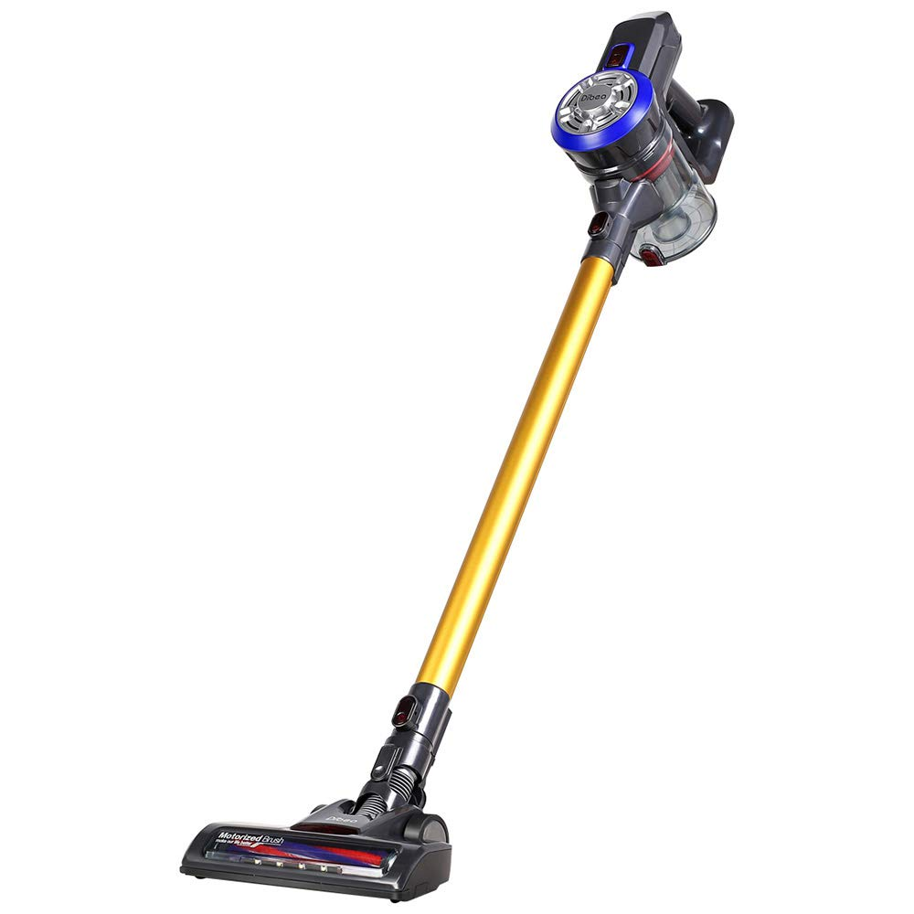 ShakeLady Dibea D18 Cordless Vacuum Cleaner, 2 in 1 Lightweight Wireless Stick Vacuum and Handheld Car Vacuum, 9000pa Powerful Suction and Rechargeable (Gold)