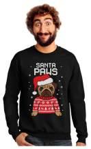 Santa Paws Pug Ugly Christmas Sweater Dog Sweatshirt