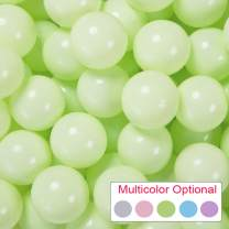 PlayMaty Pack of 50 Macaron Ball Pit Plastic Ball Kids Swim Pit Fun Toy 50 Pieces Phthalate Free BPA Free Balls with Storage Bag for Baby Playhouse Pool Birthday Party Decoration (Light Green)