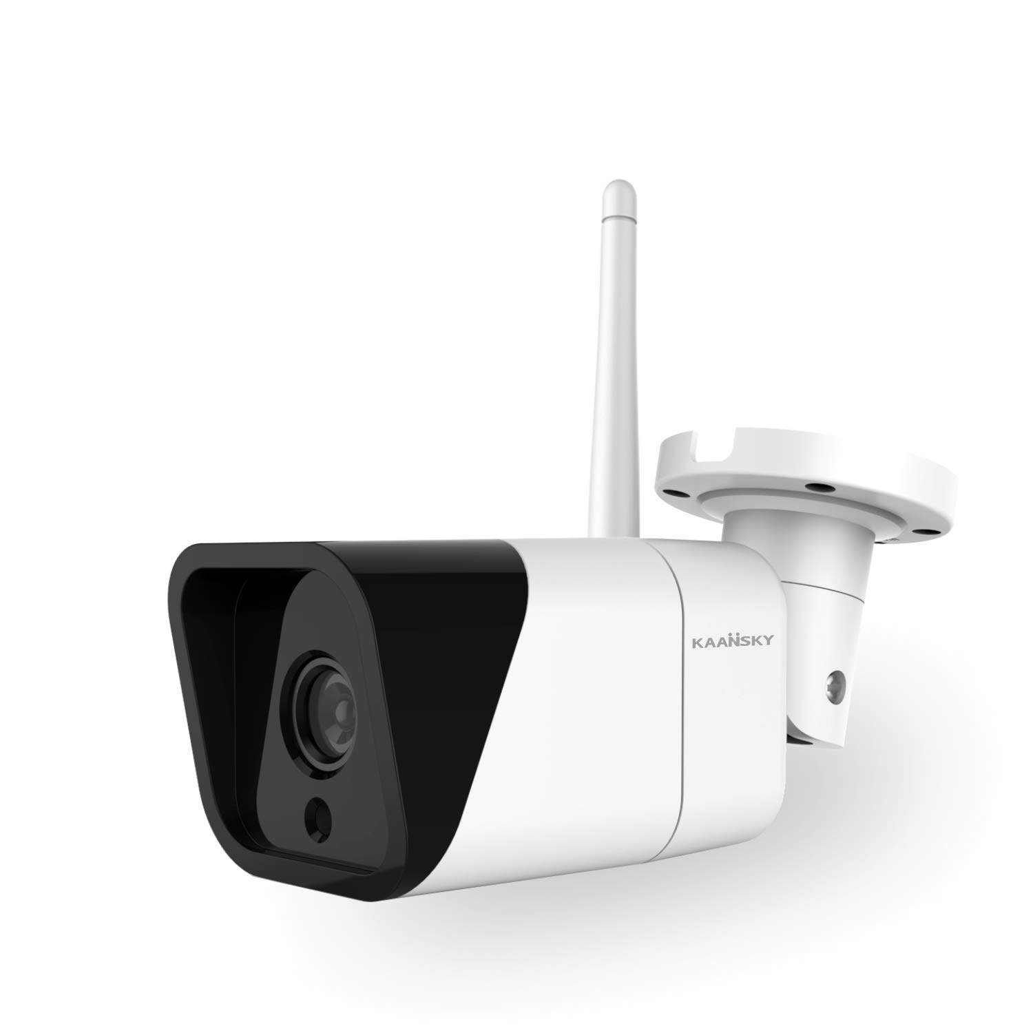KAANSKY K4 Outdoor WiFi Wired Security Camera HD1080P Waterproof IP66 Mount Bullet Surveillance Camera with Motion Detection& Night Vision&Max 128g SD Card with 3-Meter Power Cord Smart Alert Monitor