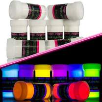 Invisible Blacklight Paint by neon nights – Set of 8 Invisible UV Paints – Bright & Long-Lasting Neon for Blacklights, UV Lights – Fluorescent Glow Paints