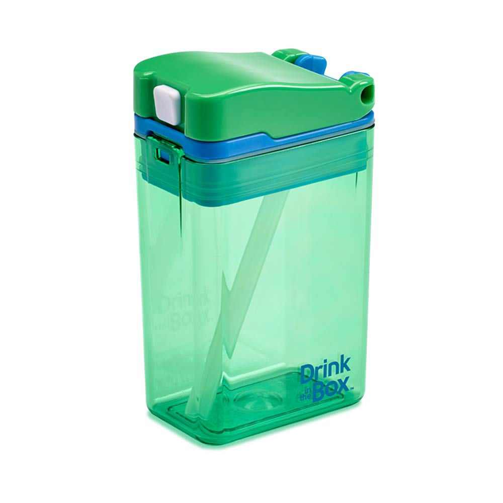 Precidio Design 1008GR Drink in the Box Eco-Friendly Reusable Drink and Juice Box Container, 8oz (Green)