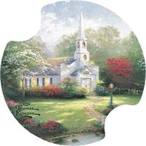 Thirstystone Hometown Chapel Car Cup Holder Coaster, 2-Pack