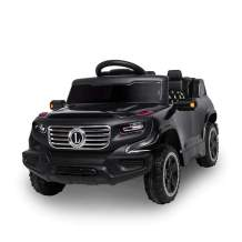 Lovinland Remote Ride On Car 6V Electric Car Motorized Vehicles 3 Speed Modes with Pre-Programmed Music MP3 for Kids Toddlers (Black)