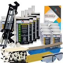 Concrete Foundation Crack Repair Kit - Mid-Range Viscosity Polyurethane - FLEXKIT-1100-40