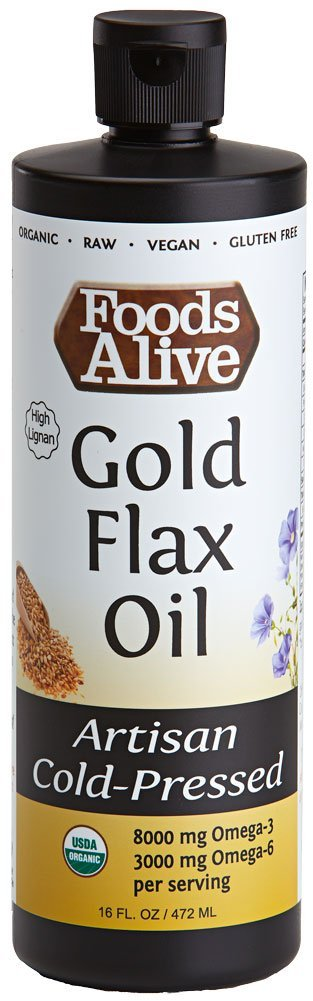 Gold Flax Seed Oil, Artisan Cold-Pressed, Organic, 16oz