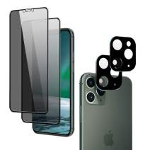 """OUNIER [4 Pack] for iPhone 11 Pro Max Camera Lens Screen Protector [Easy Installation Tray] Metal Frame 28° Privacy Screen Cover [Full Coverage] Bubble Free Tempered Glass for iPhone 11 Pro Max 6.5"""""""